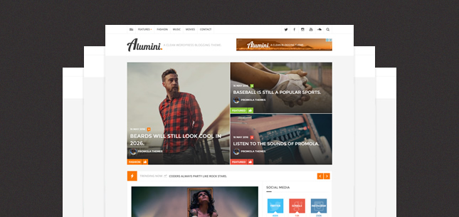 Alumini – WordPress Blogging / Magazine Theme