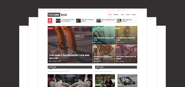 FutureMag – WordPress Magazine / News Theme