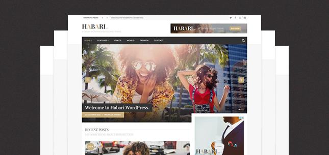 Habari – A Responsive WordPress Blog Theme