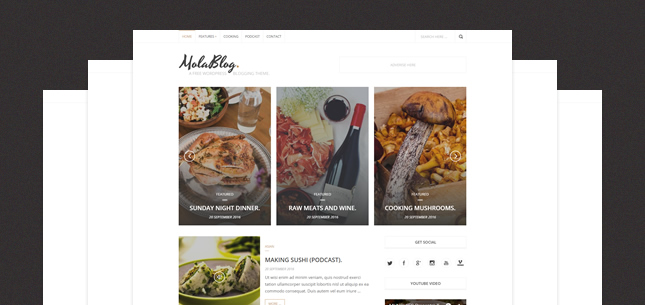 MolaBlog – A Free WordPress Blogging Theme
